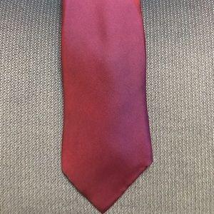 Solid red Hermès Tie